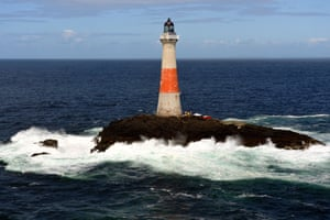 Tom Nancollas, whose book Seashaken Houses explores the rock lighthouses of Great Britain and Ireland, takes a tour through their history. Pictured here is the Dhu Artach lighthouse, where a young Robert Louis Stevenson learned the art of lighthouse-building, before swiftly abandoning it for literature.