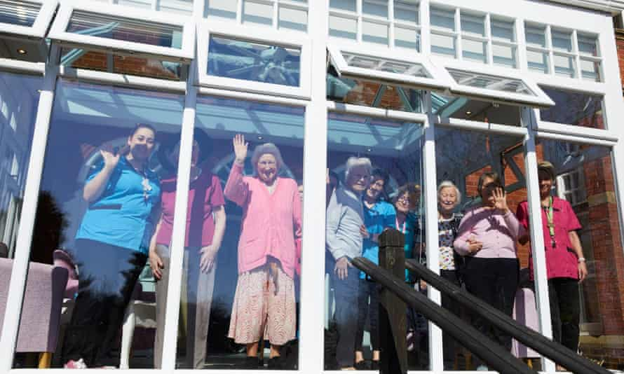 Staff and residents at Bridgedale House.