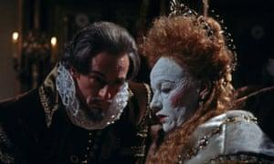 Hugh Dickson as Sir Robert Cecil and Glenda Jackson as Elizabeth I in Sweet England's Pride, an episode of the BBC mini-series Elizabeth R, 1971.