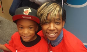 Monique Jeffrey and her son, Brendin.