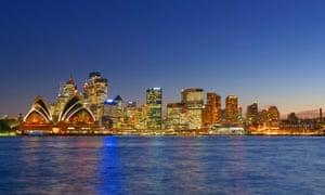 Opera House and Sydney skyline, Sydney, New South Wales, Australia