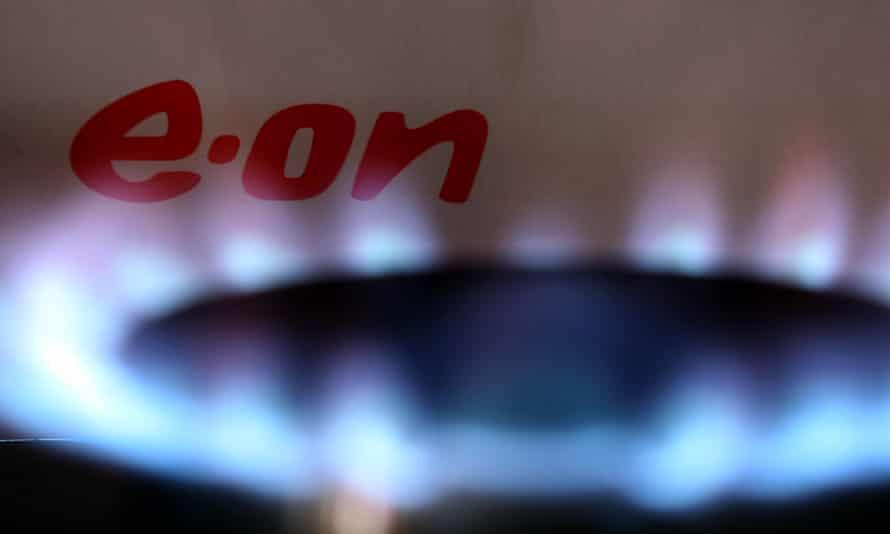 E.ON logo alongside a gas cooker ring