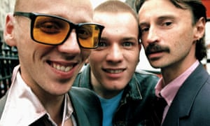 Ewen Bremner, Ewan McGregor and Robert Carlyle in Trainspotting.
