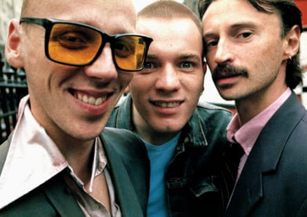 Ewen Bremner, Ewan McGregor and Robert Carlyle in the original Trainspotting, 1996.