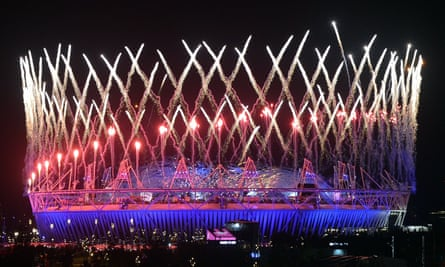 The opening ceremony of the London Olympics in 2012