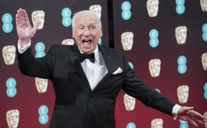 Mel Brooks attends the 70th Baftas.