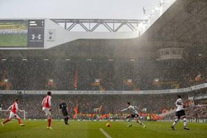 Huge rainstorm in the second half.