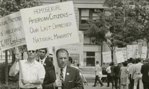 Frank Kameny picketing in a still from The Lavender Scare
