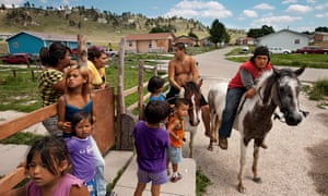 The life expectancy in parts of North and South Dakota – typically counties with Native American reservations such as Pine Ridge, pictured – is just 66 years.