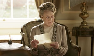 Maggie Smith as Violet, Dowager Countess of Grantham.