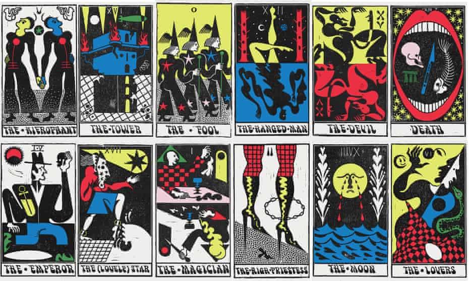 The Autonomic Tarot illustrated by Sophy Hollington.