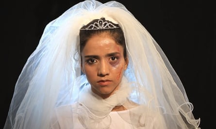 'A million things to say' … Sonita Alizadeh in the Brides for Sale video; she has now performed for Chelsea Clinton