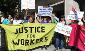 Cleaners at the Ministry of Justice are calling for the London living wage and their rights to sick pay.