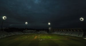 Trent Bridge during the day-night match between Nottinghamshire and Kent