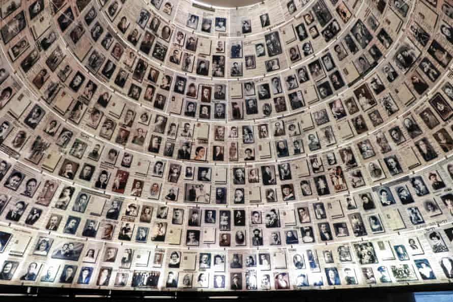 A view of the ceiling at the Hall of Names at the Yad Vashem Holocaust Memorial museum in Jerusalem. Survey published ahead of International Holocaust Remembrance Day on January 27.