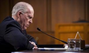 The former CIA director John Brennan in Washington.