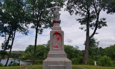 The Duston statue vandalized in Boscawen