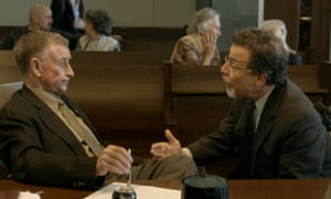 Peterson with his defence attorney David Rudolf.