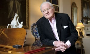 John Julius Norwich at home in West London, 2011.