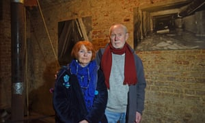 Joachim Rudolph with his wife Eveline, the first escapee.