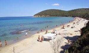 Beach Cala Violina Tuscany Italy