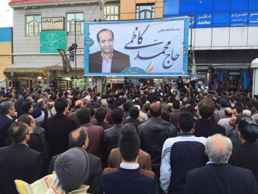Headquarters of a reformist candidate in the February 2016 elections, town of Malayer in Hamedan province, Iran.
