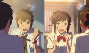 As the spectacle expands the film becomes less engrossing … Your Name.