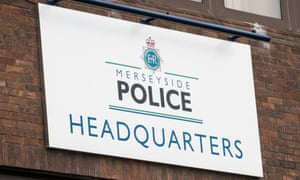 Sign on the side of the Merseyside Police Headquarters