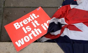 Motion Of No Confidence, London<br>(190116) -- LONDON, Jan. 16, 2019 (Xinhua) -- An anti-Brexit placard is seen on the ground outside the Houses of Parliament in London, Britain, on Jan. 16, 2019. The British parliament on Tuesday rejected overwhelmingly the Brexit deal. Main opposition Labor party leader Jeremy Corbyn tabled a motion of no confidence, with a debate scheduled for Wednesday to decide whether May's government will collapse. (Xinhua/Tim Ireland)   PHOTOGRAPH BY Xinhua / Barcroft Images