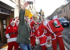 Selfie with Santas