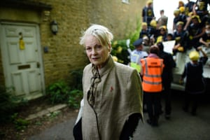 Vivienne Westwood poses for the cameras