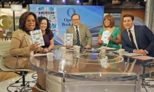 From left: Oprah Winfrey with her book club pick, American Dirt, author Jeanine Cummins and the hosts of CBS This Morning.