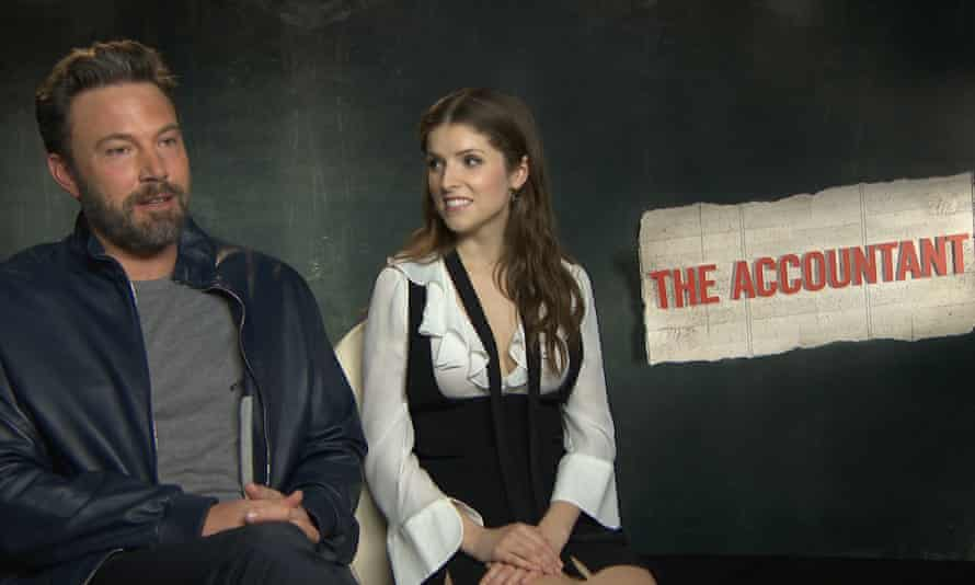 Ben Affleck and Anna Kendrick promoting The Accountant