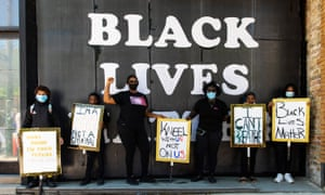 One family joins the Black Lives Matter protests in Chicago last week.