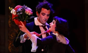 Audrey Brisson and Marc Antolin in The Flying Lovers of Vitebsk at Bristol Old Vic.