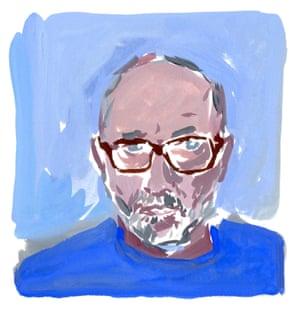 Parody power … Jean-Philippe Delhomme's self-portrait.