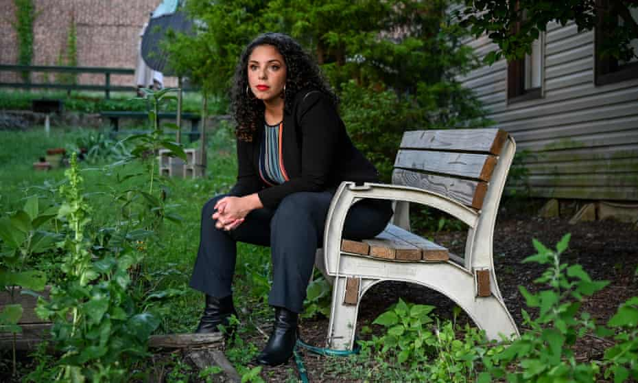 Brittany Ramos DeBarros, 32, United States Army veteran and Democratic candidate for New York's 11th Congressional District.