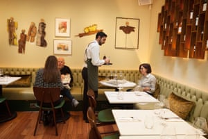 'We were one big happy room of diners': Ampéli restaurant, Charlotte Street, London