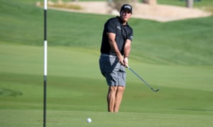 Phil Mickelson at the pro-am event prior to the Saudi International in King Abdullah Economic City this week.