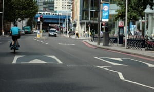Painted 'speedbumps' in Southwark, London.