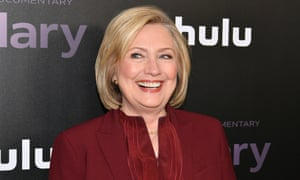 Hillary Clinton at the Hillary premiere in New York, New York, on 4 March.