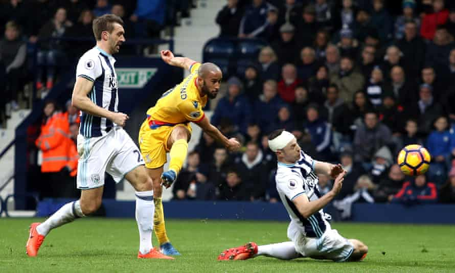 Andros Townsend of Crystal Palace completes a stunning solo goal against West Brom in March 2017.