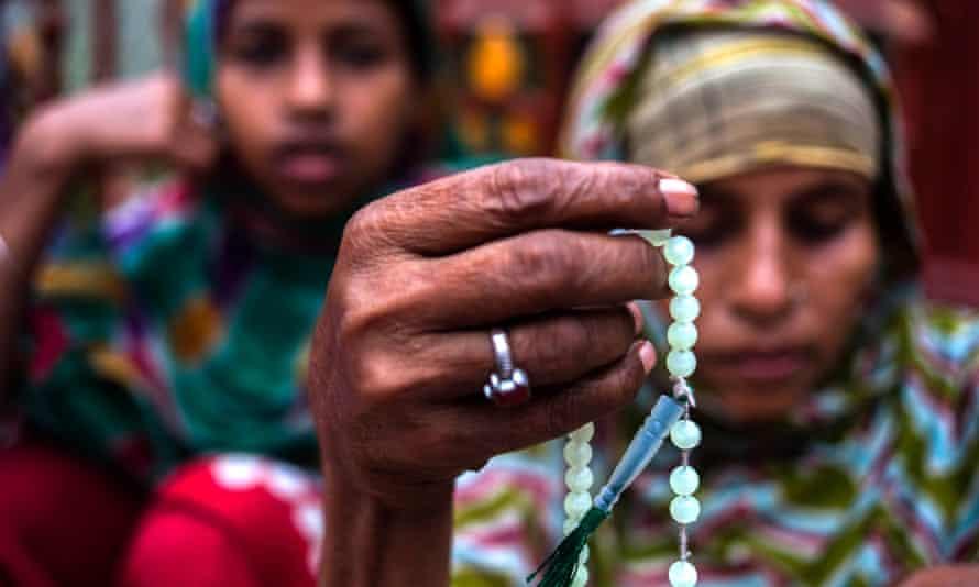 A Muslim prays during Ramadan in Kolkata, India.
