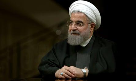 The Iranian president, Hassan Rouhani