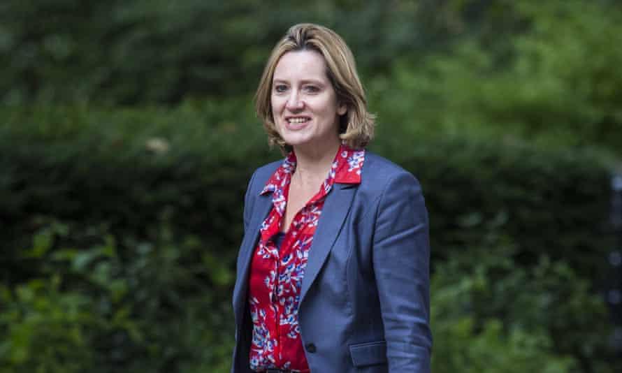 The new home secretary and aristocratic expert Amber Rudd.