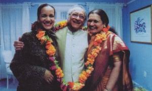 Anoushka with Ravi and Sukanya Shankar.