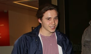Brooklyn Beckham in London this month.