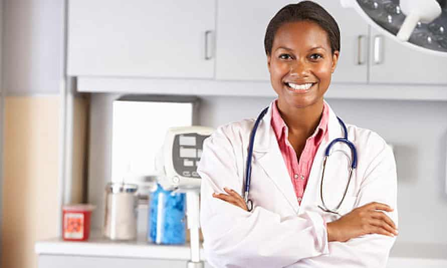A doctor in her office