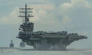 USS Ronald Reagan dans la mer des Philippines en juillet de cette année.