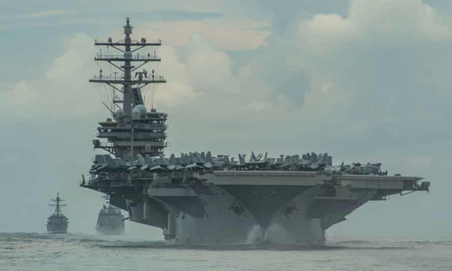 USS Ronald Reagan in the Philippine Sea in July this year.